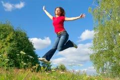 Sprong in de hemel (reeks) Royalty-vrije Stock Foto's