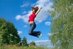 Sprong in de hemel (reeks) Stock Foto