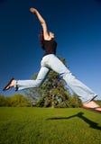 Sprong en Schaduw Royalty-vrije Stock Afbeeldingen