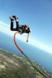 Sprong met een kabel Royalty-vrije Stock Foto's