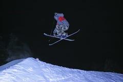 Sprong met ski Royalty-vrije Stock Foto