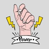 Sprong power hand protest revolution Stock Photography