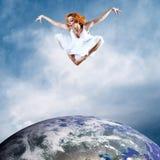 Sprong van ballerina Royalty-vrije Stock Foto