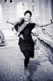 Sprong voor vreugde Stock Foto's