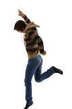 Sprong voor vreugde Stock Fotografie