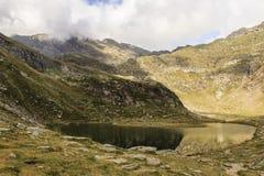 Spronser jeziora w południowym Tyrol, Włochy Zdjęcie Stock