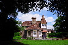 Sprookjehuis in het bos royalty-vrije stock foto