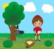 Sprookjekarakters - een wolf en het meisje stock illustratie