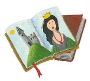 Sprookjesboeken - prinses en kasteel vector illustratie