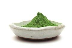 sproszkowana zieleni herbata Zdjęcia Stock