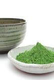 sproszkowana zieleni herbata Obrazy Royalty Free