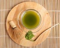 Sproszkowana zielona herbata Obrazy Royalty Free