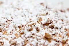 Sproszkowany cukier na torcie zdjęcie stock