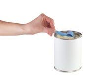 Sproszkowany mleko na spoo n nabiału jedzenie dla dziecka fotografia stock