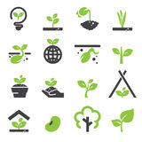 Sprout icon set stock illustration