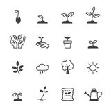 Sprout icons. Mono vector symbols Stock Image
