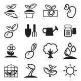 Sprout icons Stock Photography