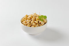 Sprouted chickpeas Stock Photography