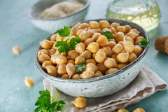 Sprouted chickpeas in the bowl. Concept for healthy eating and nutrition stock photos