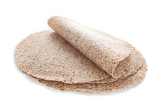 Sprouted wheat tortillas. On white Stock Image