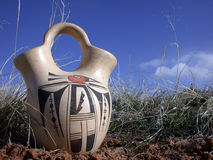 Sprouting Pot. Ancient Water Jug Stock Images