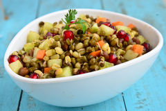 Sprouts chaat. Indian healthy snack:sprouts chaat Stock Image
