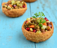 Sprouts chaat. Indian healthy snack:sprouts chaat Royalty Free Stock Image