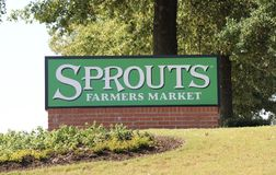 Sprouts Farmer's Market Sign Royalty Free Stock Photography