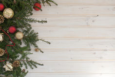 Spruce branch with decoration Royalty Free Stock Image