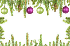 Spruce branches with decorations Royalty Free Stock Photos