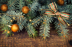 Spruce branches with decorations Stock Photography