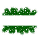 Spruce branches pattern Stock Photos