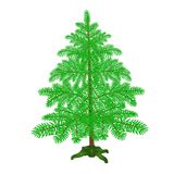 Spruce Christmas tree with the stand on a white background vintage vector illustration editable. Hand draw Stock Photography