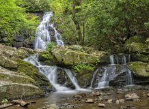 Spruce Flats Falls. In The Great Smoky Mountains stock photo