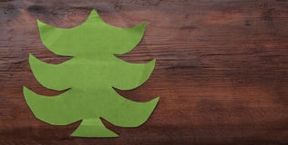 Spruce made of green paper Royalty Free Stock Photography