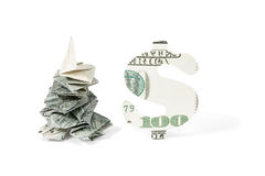 Spruce of money and dollar sign Royalty Free Stock Photo