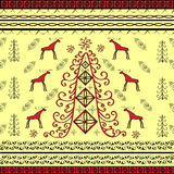 Spruce and moose ethnic background natural Stock Images