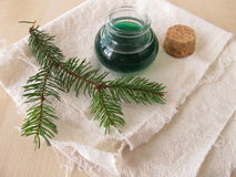 Spruce needle oil Royalty Free Stock Images