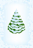 Spruce in the snow. Drawing background Royalty Free Stock Photo