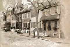 Spruce Street in Philadelphia stock photos