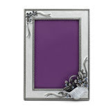 Spruce table photo frame Royalty Free Stock Images