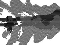 Spruce abstract black and white image. Spruce tree black and white abstraction image from a CAD drawing like a traditional oriental ink painting, for landscape Royalty Free Stock Image