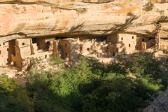 Spruce Tree House at Mesa Verde National Park royalty free stock images