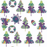 Spruce-tree seamless pattern. It is located in swatch menu, vect. Spruce-tree seamless pattern. It is located in swatch menu,  image. Cute background vector Royalty Free Stock Images