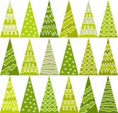 Spruce, trees, green, new year, pattern, triangles, geometric, background, seamless. Royalty Free Stock Image