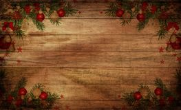 Spruce twig tree background with toys stock photos