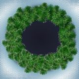 Spruce wreath Stock Images