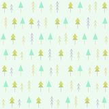 Spruces seamless pattern. Spruces pattern. Vector EPS 10 hand drawn seamless pattern Stock Photo