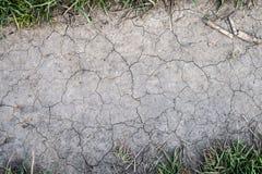 sprucken bakgrund torkar jord Arkivbilder