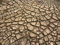 sprucken bakgrund torkar jord Royaltyfri Fotografi